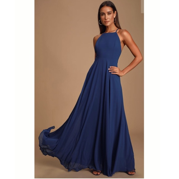 Lulu's Dresses & Skirts - Mythical Kind of Love Navy Blue Maxi Dress